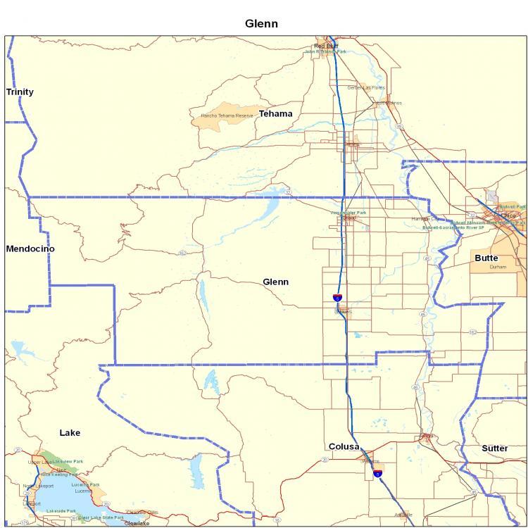 Glenn County California Map.Glenn County Ca California Maps Map Of California California