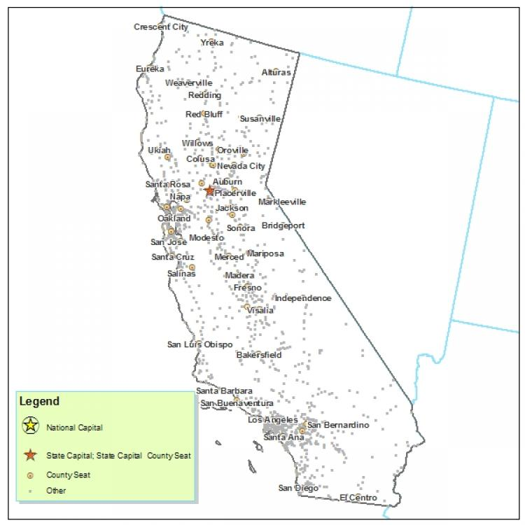 picture about Printable California Map named California Metropolis Map California Maps - Map of California